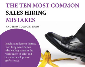 10 Most Common Sales Hiring Mistakes Cover